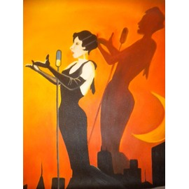 offer buy  peinture huile sur toile diva de jazz