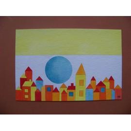 Petite annonce Peinture Lune Bleue À L'aquarelle - 34000 MONTPELLIER