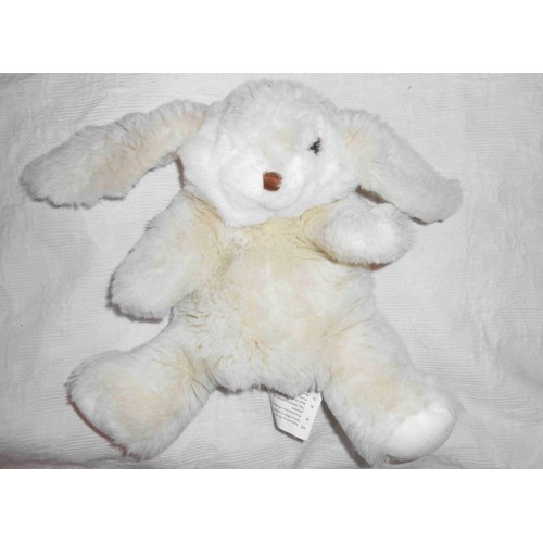 peluche doudou marionnette lapin blanc cr me cru ikea beige clair titta 30 cm. Black Bedroom Furniture Sets. Home Design Ideas