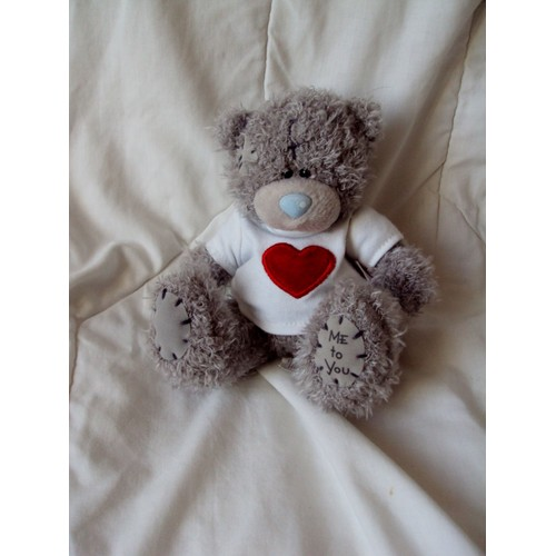 peluche doudou ours gris coeur by me to you