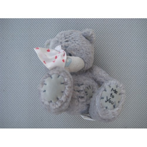 peluche doudou ours mouchoir coeur me to you