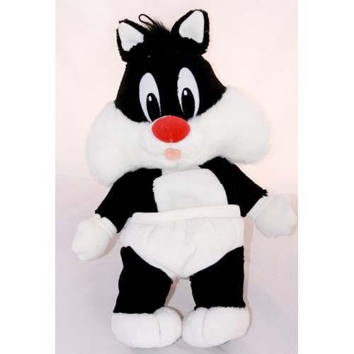 peluche doudou range pyjama gros minet sylv stre chat b b titi jemini 50 cm. Black Bedroom Furniture Sets. Home Design Ideas