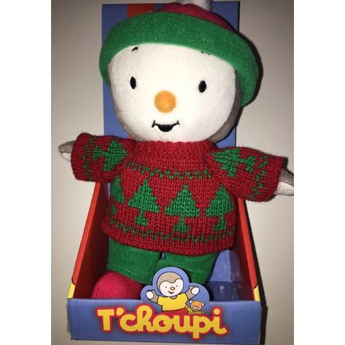 Peluche doudou t 39 choupi exclusivite 2015 pull rouge vert - Tchoupi et doudou noel ...
