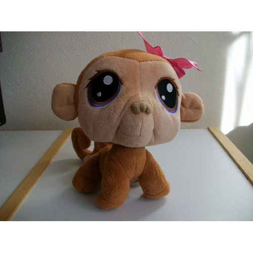 Peluche singe petshop hasbro achat vente de jouet - Petshop singe ...