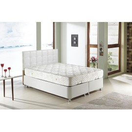 perl lit coffre 140x190 blanc matelas memoryfoam 25cm. Black Bedroom Furniture Sets. Home Design Ideas
