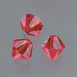 Perle Swarovski Toupie 4 Mm, Lot De 25 Perles En Verre Facett�