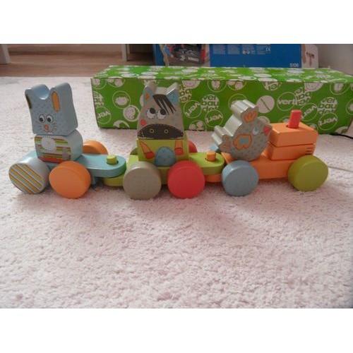 petit train de la ferme en bois achat vente de jouet rakuten. Black Bedroom Furniture Sets. Home Design Ideas