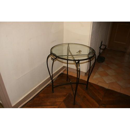 petite table ronde fer forg verre diam tre 60 cm achat et vente. Black Bedroom Furniture Sets. Home Design Ideas