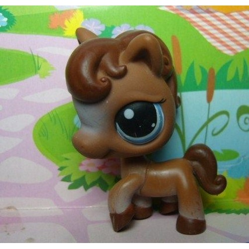 Petshop cheval poney brun chocolat hasbro 337 achat et vente - Cheval petshop ...