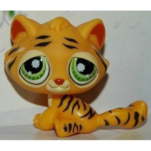 Petshop in dit nouveau tigre du bengal orange clair pet shop 1267 - Petshop tigre ...