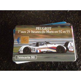 Peugeot 1er Aux 24 H Du Mans 92 Et 93