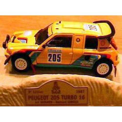 peugeot 205 turbo 16 285 rallye safari paris dakar 1987 vatanen giroux 1 43 norev m6 collections. Black Bedroom Furniture Sets. Home Design Ideas
