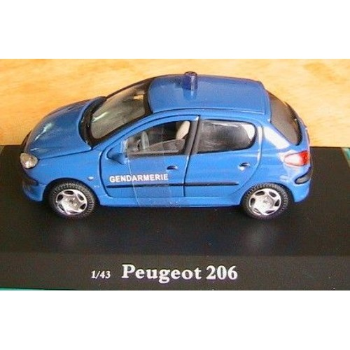 peugeot 206 gendarmerie bleu oliex neuve 1 43 no police 1ere version. Black Bedroom Furniture Sets. Home Design Ideas