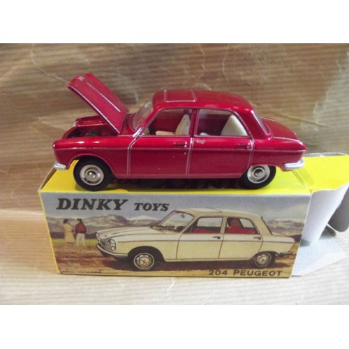 pfminiautomoto peugeot 204 reedition dinky toys capot ouvrant. Black Bedroom Furniture Sets. Home Design Ideas
