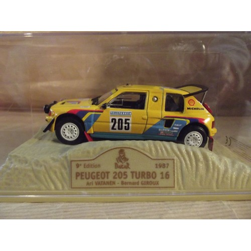 peugeot 205 turbo 16 dakar 1987 vatanen norev neuf et d 39 occasion. Black Bedroom Furniture Sets. Home Design Ideas