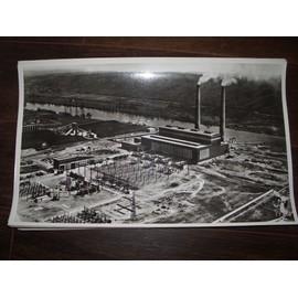 Photo Aerienne Lapie Nb N�77 Centrale Electrique Thermique De Porcheville Seine Et Oise Industrie �lectricit� Ann�es '50