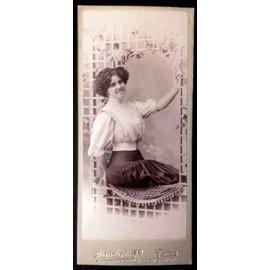 Photo Cdv Carte De Visite 12x5cm Jeune Femme 1900 A La Taille Fine Par Chamberlin Paris