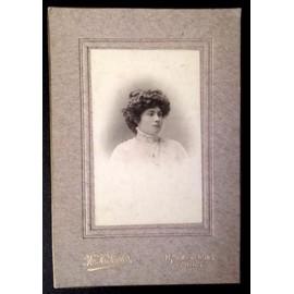 Photo Cdv Carte De Visite 14x95cm Jeune Femme 1900 En Dentelle Par M H Fontes