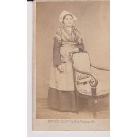 1890 Femme Régional En Photo Pied D'une Costume Et Coiffe XZkwPiuTO