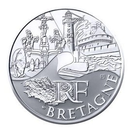 Pi�ce 10 Euros Argent 2011 R�gion Bretagne +++ Neuve Unc+++ Rare+++