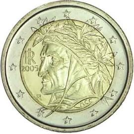 pi ce 2 euros dante 2005 achat vente de numismatique priceminister rakuten. Black Bedroom Furniture Sets. Home Design Ideas