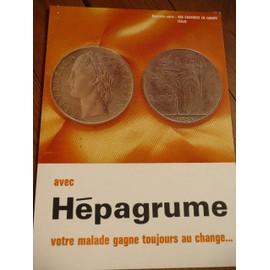 piece de monnaie italienne - publicité pharmaceutique hépagrume - 1966 - 334