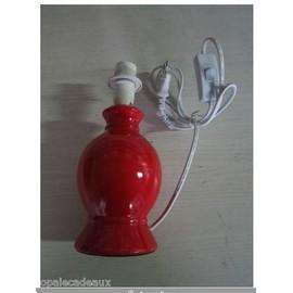 pied de lampe ceramique rouge achat et vente priceminister rakuten. Black Bedroom Furniture Sets. Home Design Ideas