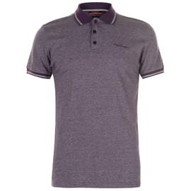 a0fa3603645 Pierre Cardin Pin Polo T-Shirt Rayé Top Manche Courte Hommes - Rakuten
