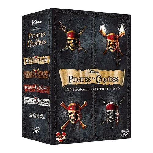 pirates des cara bes l 39 int grale 4 films dvd zone 2. Black Bedroom Furniture Sets. Home Design Ideas