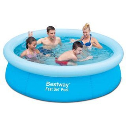 Piscine gonflable bestway fast set pool ronde 198x51cm for Piscine gonflable ronde