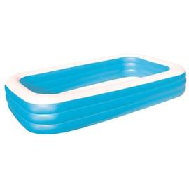 piscine gonflable familiale rectangulaire bleu deluxe 3. Black Bedroom Furniture Sets. Home Design Ideas