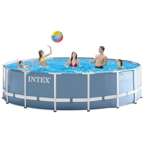 Piscine tubulaire intex prism frame ronde 4 57 x 1 22 m for Piscine tubulaire 1 22