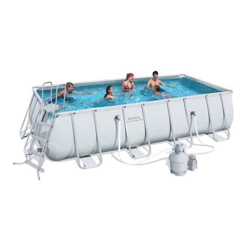 Piscine tubulaire rectangle steel pro frame x x m filtre - Piscine tubulaire rectangle ...