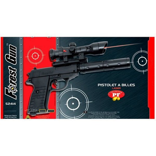 pistolet a billes laser silencieux 0 700 joules forest gun 52414 airsoft. Black Bedroom Furniture Sets. Home Design Ideas