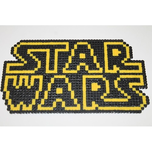 pixel art logo star wars avec des perles repasser hama. Black Bedroom Furniture Sets. Home Design Ideas