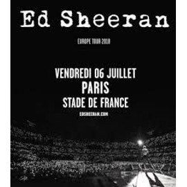 place de concert ed sheeran stade de france 06 07 18. Black Bedroom Furniture Sets. Home Design Ideas