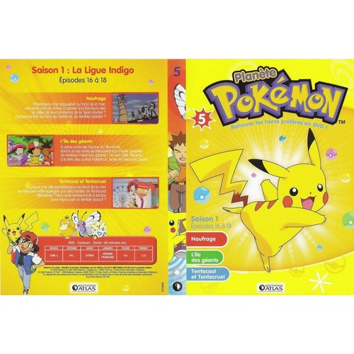 Planete pokemon saison 1 pisodes 16 18 dvd 5 dvd zone 2 - Pokemon saison 18 ...