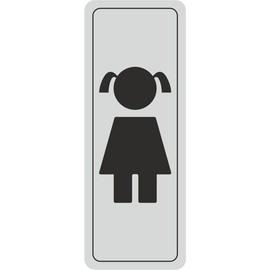 Plaque De Porte Fille, Autocollant, 120 X 45 Mm