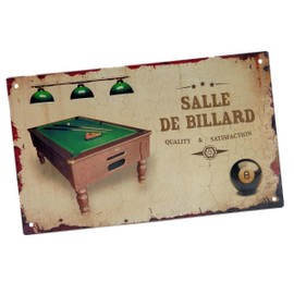 plaque de porte originale fixer salle de billard. Black Bedroom Furniture Sets. Home Design Ideas