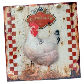 Plaque d corative la poule au pot en m tal d coration for Poules decoration