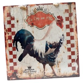 plaque d corative le coq en pate en m tal d coration murale cuisine suspendre r tro vintage. Black Bedroom Furniture Sets. Home Design Ideas
