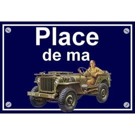 plaque place de ma jeep willys achat et vente priceminister rakuten. Black Bedroom Furniture Sets. Home Design Ideas