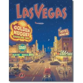 plaque publicitaire en tole las vegas style annees 50 d co usa americaine pub affiche. Black Bedroom Furniture Sets. Home Design Ideas