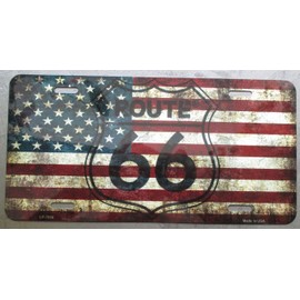 plaque publicitaire immatriculation usa drapeau flag licence plate. Black Bedroom Furniture Sets. Home Design Ideas
