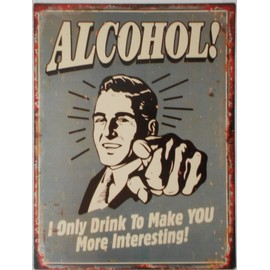 plaque publicitaire murale m tal alcohol bar bistro alcool d co d coration mur vintage 33x25 cm. Black Bedroom Furniture Sets. Home Design Ideas