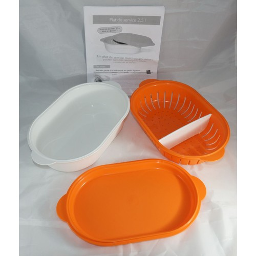 plat de service multi usages tupperware 2l5 orange achat et vente. Black Bedroom Furniture Sets. Home Design Ideas