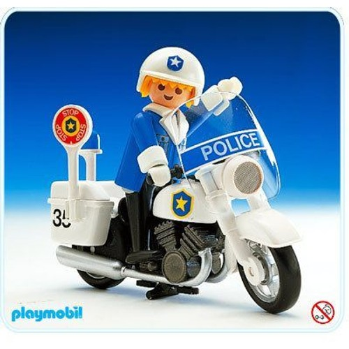 playmobil 3564 policier moto - Policier Playmobil