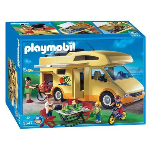 Playmobil 3647 famille et camping car achat et vente for Autocaravana playmobil