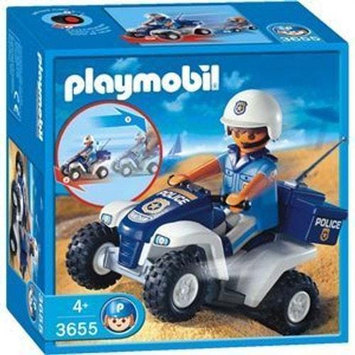 playmobil les policiers 3655 policier et quad - Policier Playmobil