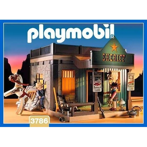 playmobil 3786 le bureau du sherif achat vente de jouet rakuten. Black Bedroom Furniture Sets. Home Design Ideas